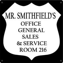 OFFICE FULLY CUSTOMIZABLE ENAMEL SIGN S/O