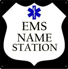 EMS FULLY CUSTOMIZABLE ENAMEL SIGN S/O
