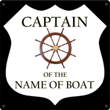 CAPTAIN BOAT FULLY CUSTOMIZABLE ENAMEL SIGNS S/O