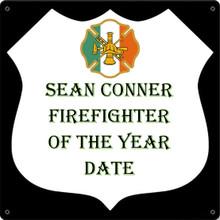 IRISH FIREFIGHTER FULLY CUSTOMIZABLE ENAMEL SIGN S/O