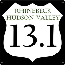 RHINEBECK HUDSON VALLEY 1/2 MARATHON FULLY CUSTOMIZABLE ENAMEL SIGN S/O