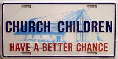 Photo of CHURCH CHILDREN LICENSE PLATE