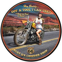 """Heavy Metal Sublimation Process Sign, measures: 28"""" Diameter & weighs apox. 7 lbs.  With holes for easy mounting and rusted corners for weathered look.  This is a Special Order sign that normally takes from 2-4 weeks to ship."""
