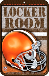 Photo of CLEVELAND BROWNS FOOTBALL LOCKER ROOM SIGN RICH COLORS AND DETAILS MAKE THIS A GREAT ADDITION TO ANY BROWNS FAN'S COLLECTION