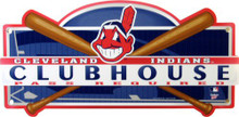 "Photo of CLEVELAND INDIANS BASEBALL ""CLUB HOUSE"" SIGN, WITH GREAT COLOR AND ATTENTION TO DETAIL MAKE THIS SIGN A GREAT ADDITION TO ANY INDIANS COLLECTION"