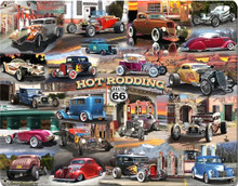 HOT ROD COLLAGE (Sublimation Process) Vintage metal Sign S/O