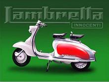 LAMBRETTA GREEN BACKGROUND RETRO MOTOR SCOOTER ENAMEL FINISH ON HEAVY 24 GAUGE  METAL SIGN  S/O
