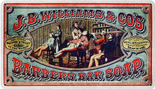 J.B. WILLIAMS BARBERSHOP (Sublimation Process) Vintage metal Sign S/O