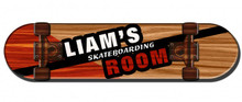 PERSONALIZED 3-D SKATEBOARD SHAPED (Sublimation Process) Vintage metal Sign S/O