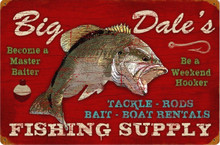 PERSONALIZED FISHING SUPPLY  (Sublimation Process) Vintage metal Sign with rusted corners for weathered look S/O