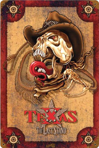THE LAST STAND TEXAS (Sublimation Process) Vintage metal Sign Corners Rusted for Weathered Look S/O