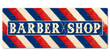 BARBER SHOP (LARGE) SINGLE SIDED  (Sublimation Process) Vintage metal Sign S/O