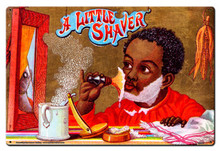 LITTLE SHAVER BARBER SHOP (Sublimation Process) Vintage metal Sign S/O