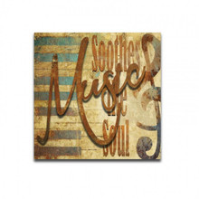 3-D MUSIC SOOTHES THE SOUL (Sublimation Process) Vintage metal Sign S/O