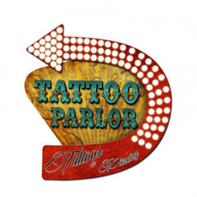3-D TATTOO PARLOR SHAPED (NOT ELECTRIC) Sublimation Process Sign  S/O