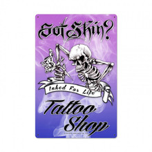 SKELTON TATTO ARTIST Sublimation Process Sign  S/O
