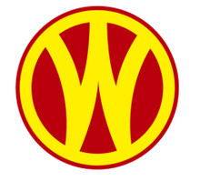 "WESTERN & ONTARIO RR (YELLOW W) VINTAGE SUBLIMATION PROCESS 14"" ROUND SIGN"