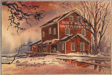 OLD FLOUR MILL BIRCH WOOD PRINT S/O