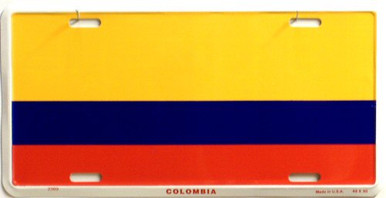Photo of COLUMBIA FLAG LICENSE PLATE