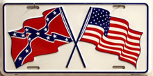 Photo of CONFEDERATE & AMERICAN FLAGS LICENSE PLATE