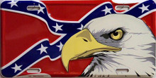 Photo of CONFEDERATE FLAG & EAGLE LICENSE PLATE