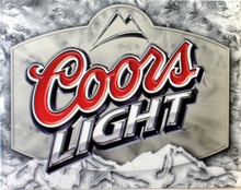 COORS LIGHT BEER SIGN HAS EXCEPTIONAL DETAIL AND COLOR, A GREAT SIGN