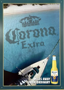 Photo of CORONA SAILBOAT BEER SIGN, A VIEW FROM THE CROWS NEST BEAUIFULLY DONE AD GREAT COLOR AND DETAIL
