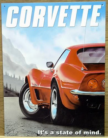 Photo of CORVETTE STATE OF MIND, GREAT COLOR AND GRAPHICS, VIEW FROM THE REAR OF THE VETTE WITH MOUNTAINS