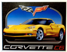 Photo of CORVETTE C6 BODY STYLE SIGN, RICH COLORS AND DETAILS