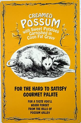 Photo of CREAMED POSSUM ONLY TWO LEFT (SAY NO MORE, OK)