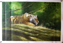 Photo of CROUCHING TIGER SIZED OIL PAINTING