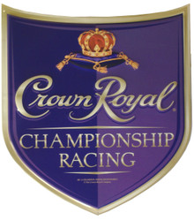 CROWN ROYAL RACING DIE-CUT SHIELD SIGN