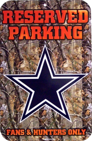 Photo of DALLAS COWBOYS CAMO, HUNTER FAN PARKING ONLY HAS A COOL CAMO EFFECT AND GREAT GRAPHICS