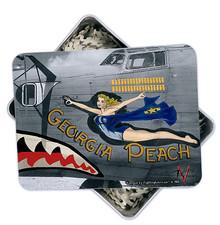 GEORGIA PEACH BOMBER NOSE ART 130 PC PUZZLE & TIN GIFT SET S/O