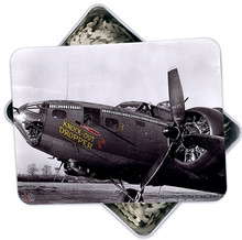 KNOCK-OUT DROPPER BOMBER NOSE ART 130 PC PUZZLE & TIN GIFT SET IN METAL BOX WITH DECORATED LID S/O