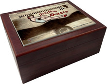"This elegant Humidor is a handmade wood creation that measures 10"" x 8"" x 3 1/2"" deep a beautiful item that any cigar aficionado would love."