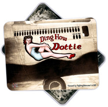 DING HOW DOTTIE 130 PC PUZZLE & TIN GIFT SET IN METAL BOX WITH DECORATED LID S/O