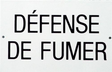 defense de fumer porcelain sign old time signs. Black Bedroom Furniture Sets. Home Design Ideas