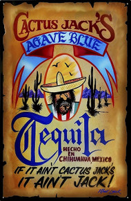 CACTUS JACK'S TEQUILA WANTED POSTER METAL SIGN S/O