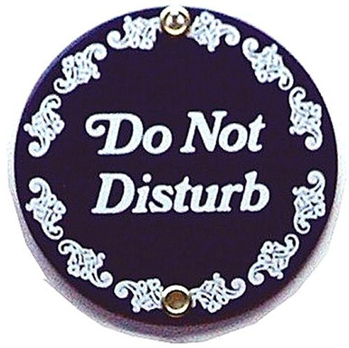 Photo of DO NOT DISTURB SMALL PORCELAIN SIGN