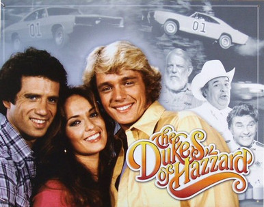 Photo of DUKE'S OF HAZZARD CREW AND SOME IN THE BACKGROUND TOO, GREAT COLORS AND ATTENTION TO DETAIL