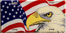 Photo of EAGLE & FLAG LICENSE PLATE