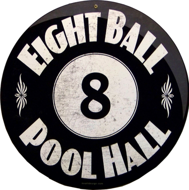 Photo of EIGHT BALL POOL HEAVY METAL SIGN IS GREAT FOR ANY POOL ROOM