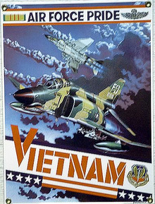 Photo of F4E PHANTOM JET PORCELAIN SIGN WITH RICH COLORS AND GREAT DETAILS