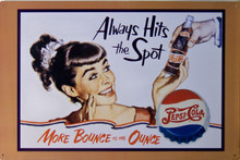 PEPSI HITS THE SPOT (FADED) FOR WEATHERED LOOK TIN SIGN