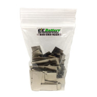 """100 Pieces of 50A Nickel Connect Solder Tabs .375""""W x 1.125""""L x .008""""TH"""