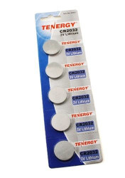 Tenergy 5pcs CR2032 Lithium Button Cells | 1 Card