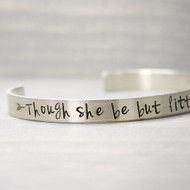 Sterling Silver Hand-Stamped Cuff Bracelet