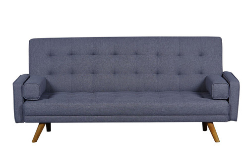 midcentury biscuit tufted click sofa with bolster pillows dsd052680