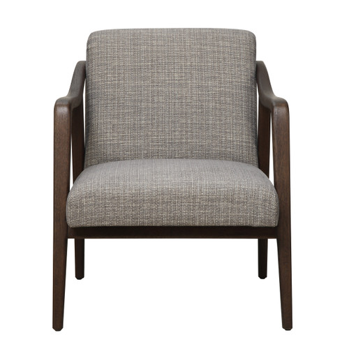 mid century wood frame accent chair in kendrick driftwood ds d102006 - Wood Frame Accent Chairs